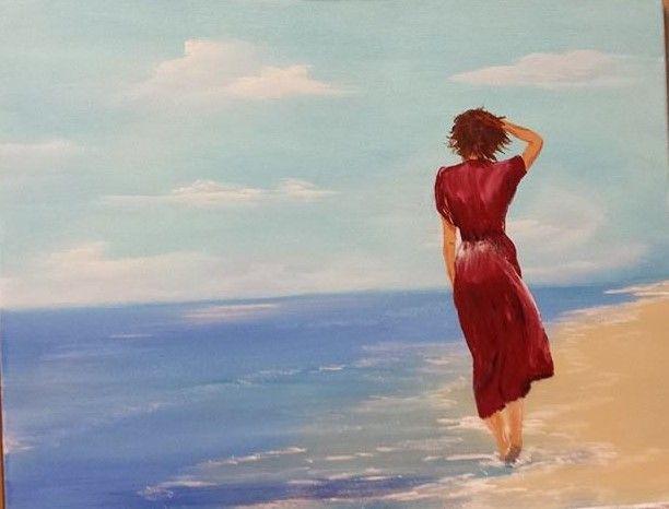 Walk on Beach - Douglas Harn