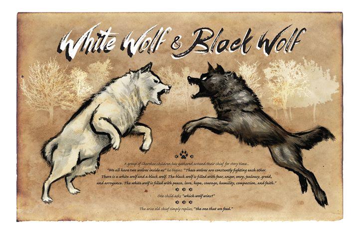 White Wolf Black Wolf - Christopher Panza