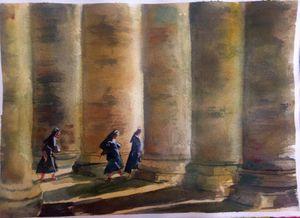 Los pilares en Plaza San Pedro