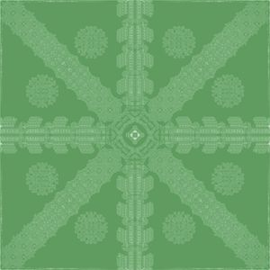 Green Ink Snowflake
