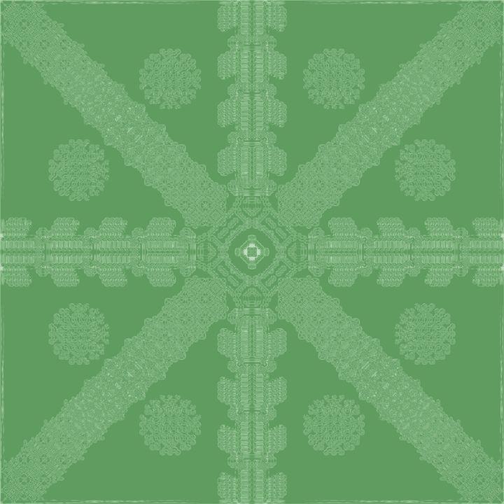 Green Ink Snowflake - Ink Snowflakes