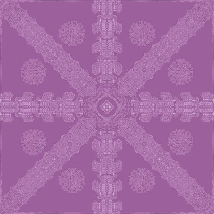 Magenta Ink Snowflake - Ink Snowflakes