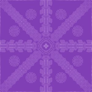 Purple Ink Snowflake