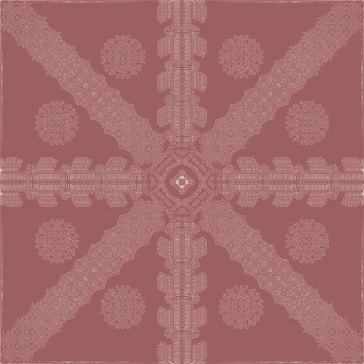 Red Ink Snowflake - Ink Snowflakes