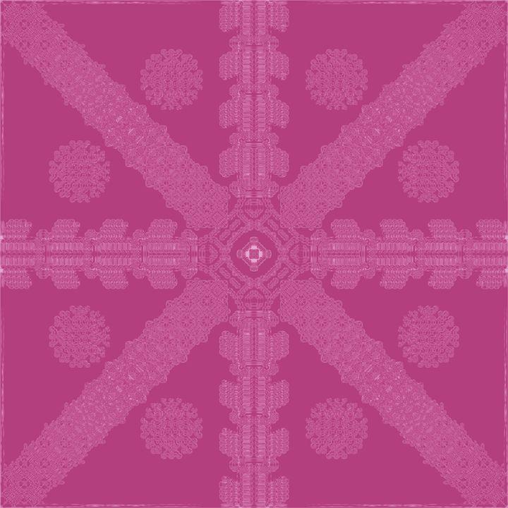Pink Ink Snowflake - Ink Snowflakes