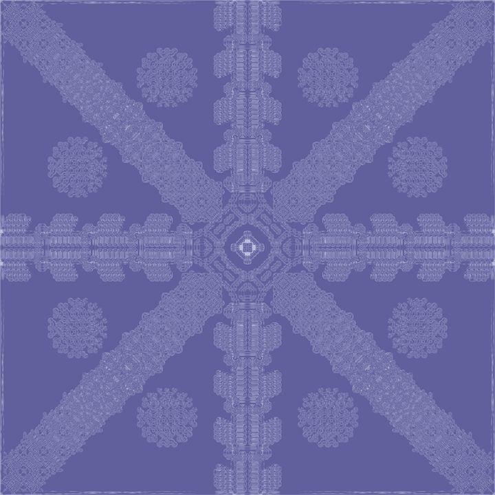 Blue Ink Snowflake - Ink Snowflakes