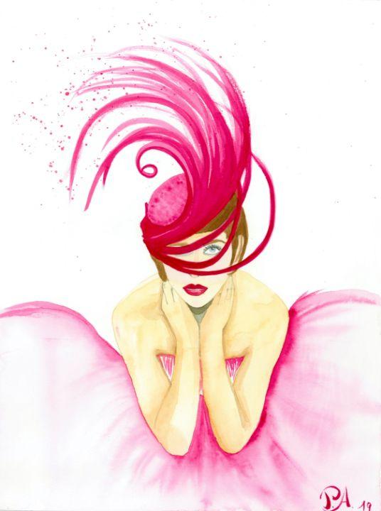 Vogue girl in pink - PauNooNoo Art