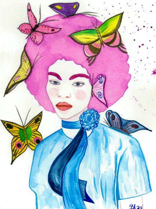 Butterfly girl - PauNooNoo Art