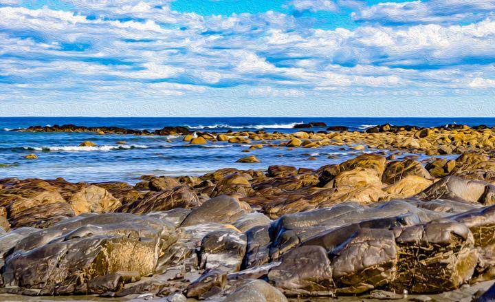 Rocks along York Beach - MJB DigiArt