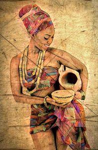 Femme porteuse d'eau