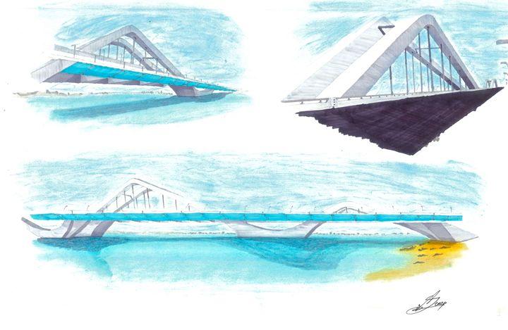 The Zaha Hadid Bridge - Arbie Galerie