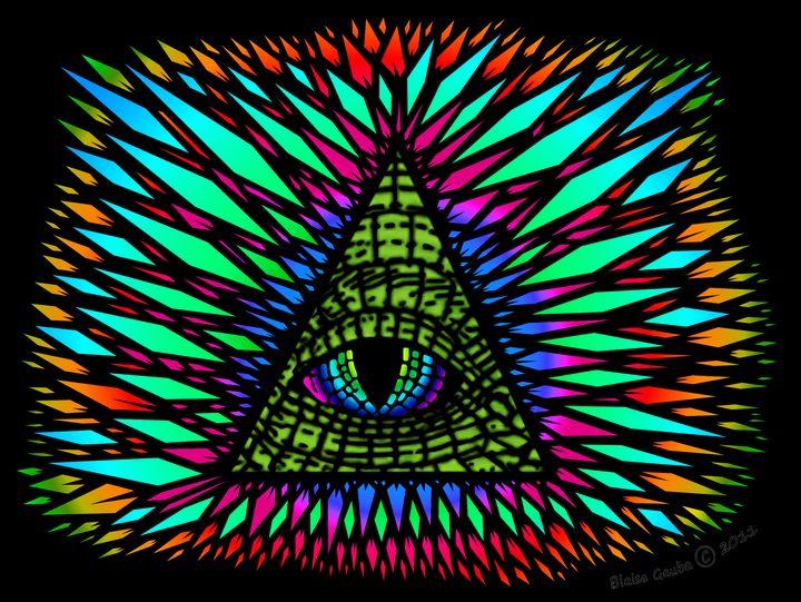 All-Seeing Reptilian Eye (Black) - The Art of Blaise Gauba