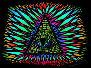 All-Seeing Reptilian Eye (Black)