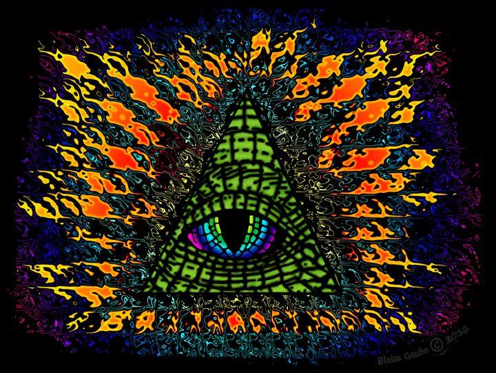 All-Seeing Reptilian Eye Distortion - The Art of Blaise Gauba