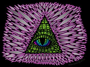 All-Seeing Reptilian Eye Neon