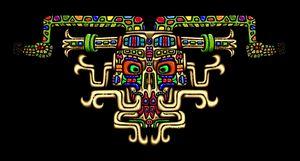 Fantasy Aztec Skull