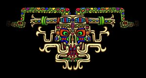 Fantasy Aztec Skull - The Art of Blaise Gauba