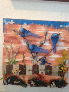 Blue Birds Flying