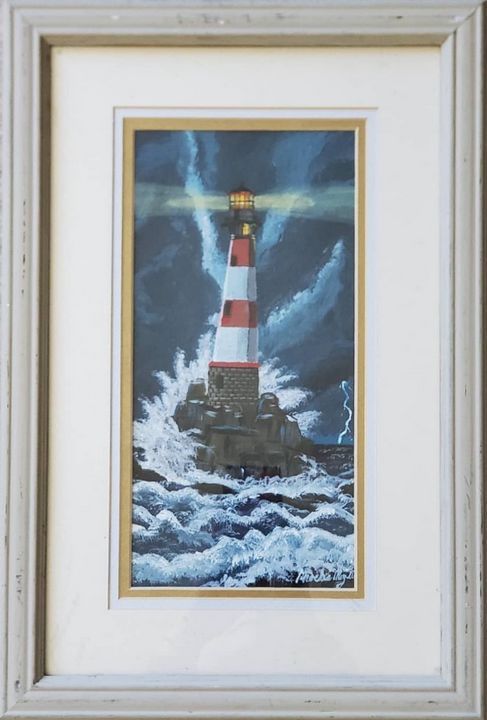 Stormy Lighthouse - Great Beyond Art