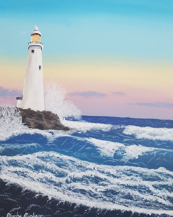 Lighthouse at Sunrise (2) - Great Beyond Art
