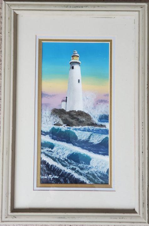 Lighthouse at Sunrise - Great Beyond Art