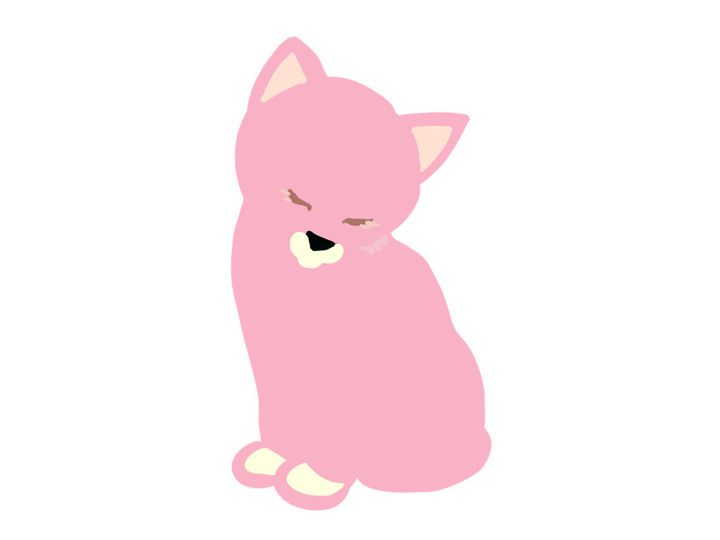 Cat pink - Quick2Draw