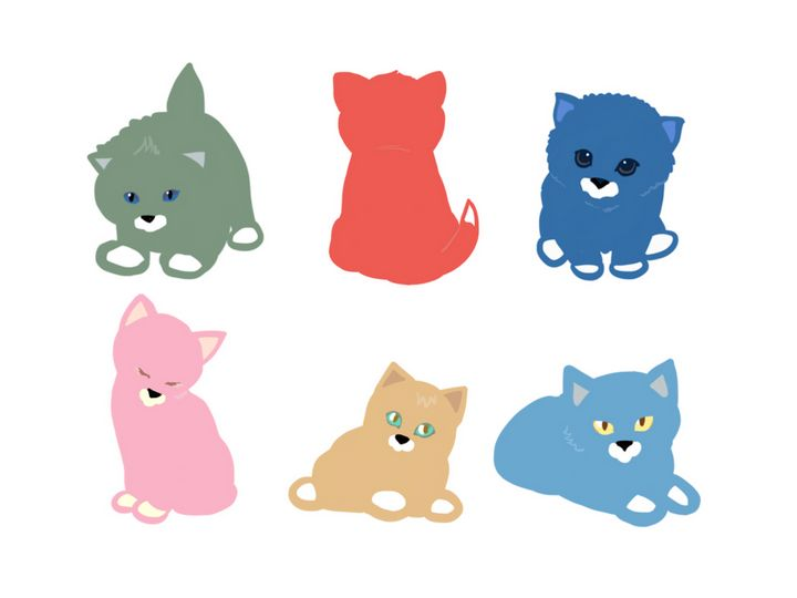 Cats 6 colors - Quick2Draw