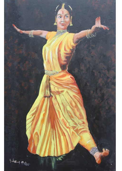 barathanatyam - painting for sale