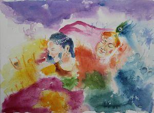 Holi with Radha Krishna