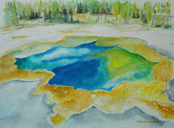 Hot Spring Yellowstone NP SOLD - GeetaBiswas
