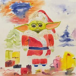 Baby Yoda or Santa claus