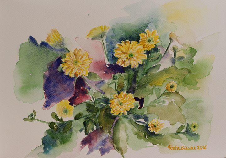 Chrysanthemum flowers  - SOLD - GeetaBiswas