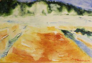 Yellowstone, Watercolor gift souveni - GeetaBiswas
