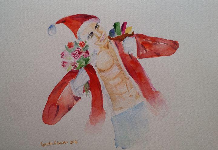 'Tis the season ! Watercolor art - GeetaBiswas