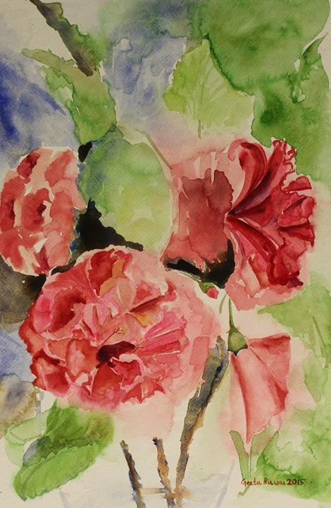 Hibiscus Stilllife - SOLD - GeetaBiswas