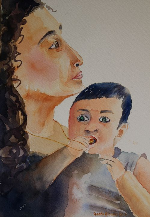 Mother and child - GeetaBiswas