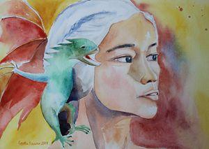 Daenerys Targaryen Born Dragon