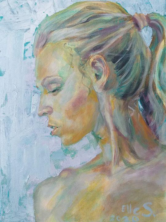Marine Teal Contemplation - Linda Schneider