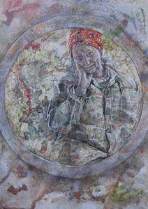 Self-portrait in a circle