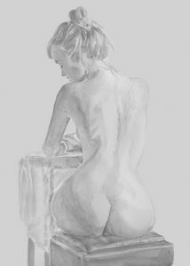 Seated Grpht Nude Study