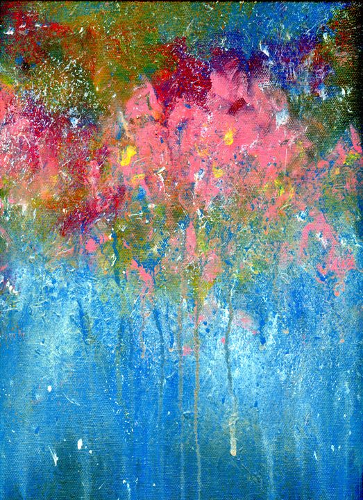 garden rain - P J Lewis Art Gallery