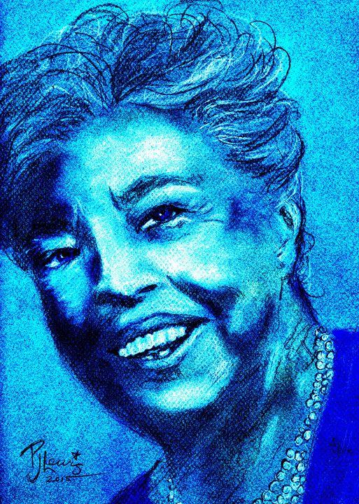 Eleanor in blue - P J Lewis Art Gallery