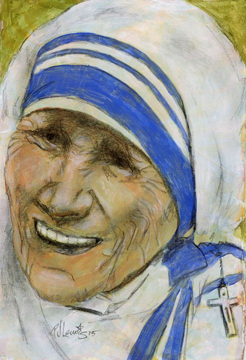 Mother Teresa - P J Lewis Art Gallery