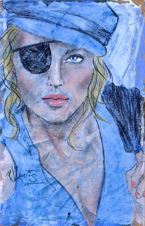 Caribbean Blue - P J Lewis Art Gallery