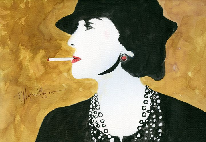 coco chanel - P J Lewis Art Gallery