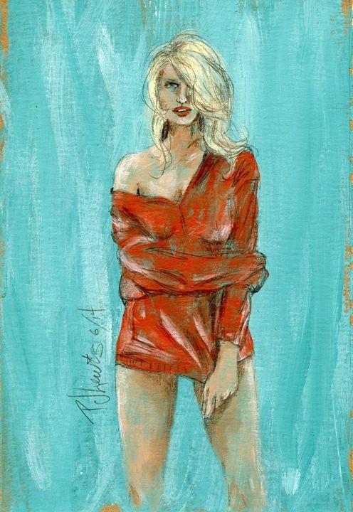 Her man's sweater - P J Lewis Art Gallery