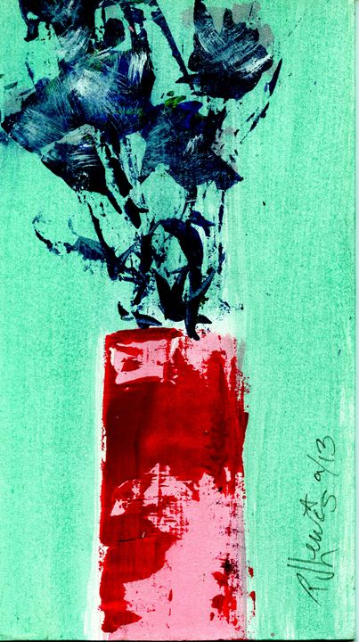Indigo roses - P J Lewis Art Gallery