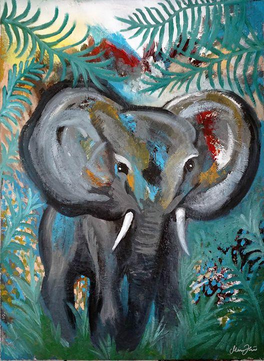 Elephant baby in jungle - Maria D Hästö