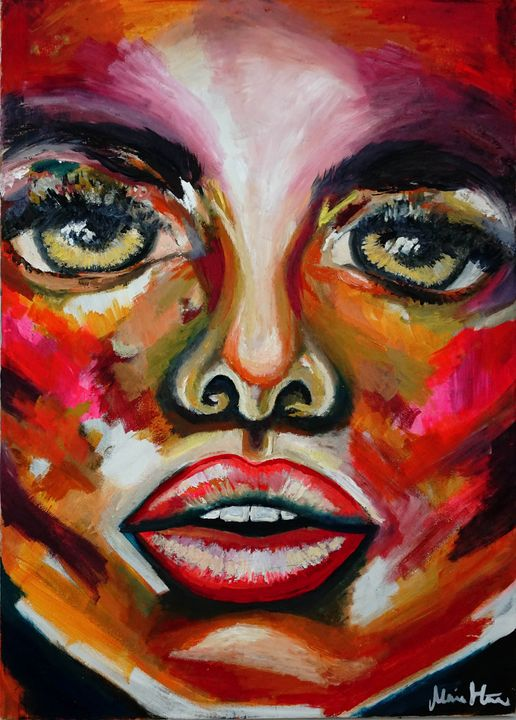 Abstract woman face - Maria D Hästö