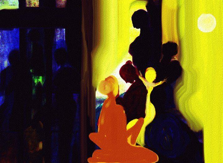 Two World Gender - Semi Digital Artwork